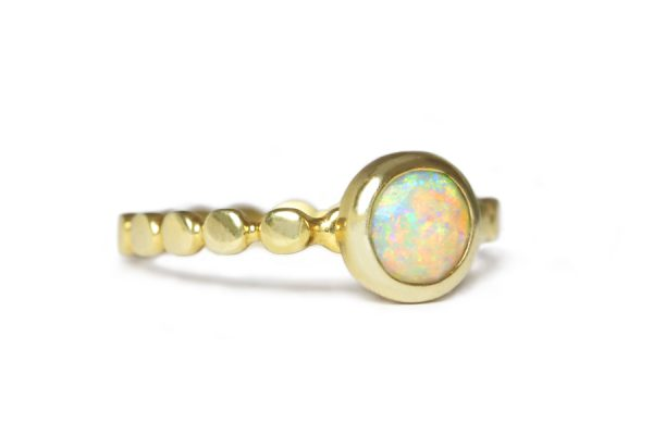 Fairtrade Gold with opal Zoe Pook Jewellery