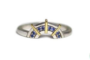 18ct gold blue sapphires