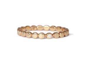 18ct rose gold circle diamonds