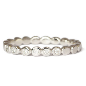 18ct white gold with diamonds