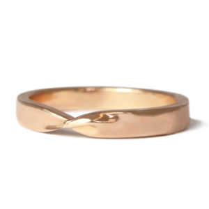 18ct Fairtrade rose gold twist ring
