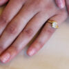 salt and pepper diamond in yellow gold