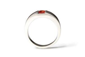 red sapphire in platinum