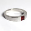 Recycled platinum with Red Sapphire