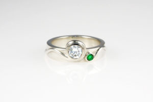 Fern Engagement Ring - side