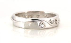 18ct Ethical White Gold Fern Wedding Ring