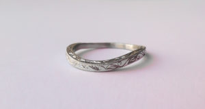 18ct Ethical White Gold Wedding Band with Bespoke Engraving