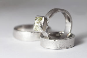 18ct Fairtrade white gold with Argyle diamond by Zoe Pook Jewellery