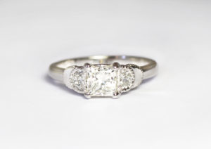 18ct Fairtrade white gold bespoke design with diamonds