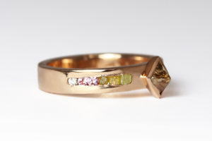 18ct Fairtrade rose gold diamonds and sapphires