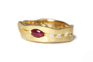 recycled gold sapphires rubies and diamonds
