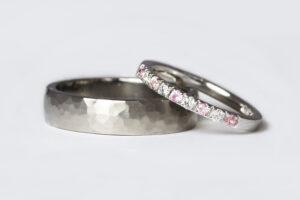 pink sapphires white diamonds