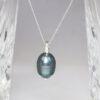 Baroque peacock pearl pendant