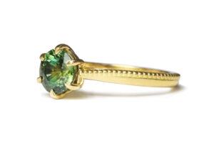 green sapphire yellow gold