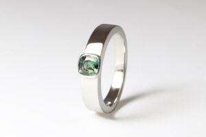 platinum with Australian sapphire