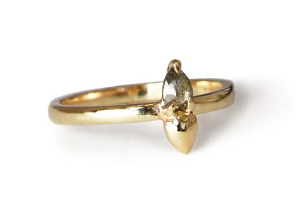 salt and pepper diamond yellow gold