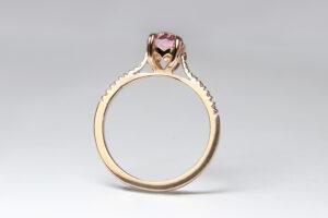 pink sapphire diamonds rose gold