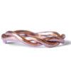 Rose gold organic twist ring